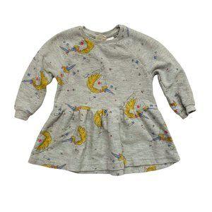 Zara Grey Unicorn Print Sweatshirt Dress